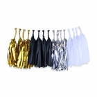 Tissue Paper Tassel Garland 16 Kit (Colors: Shiny Gold, Black, Shiny Silver, White)  - Premier