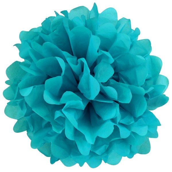 Tissue Pom 10in Peacock