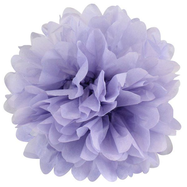Tissue Pom 10in Periwinkle