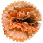 Tissue Pom 15in Gold Glam Orange