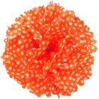 Tissue Pom 15in Polka Dot Tangerine