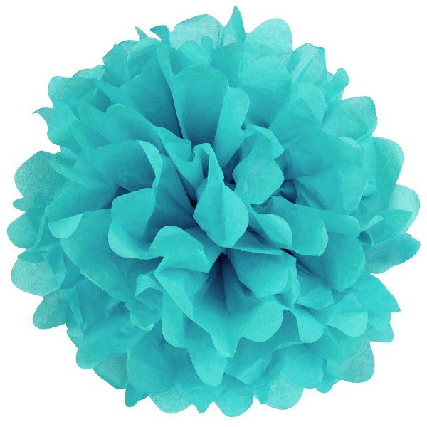 Tissue Pom 24in Turquoise