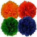 Tissue Paper Pom Poms 16inch 4 Assorted Color