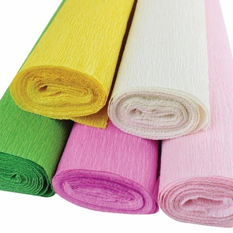 Tropical Assorted Crepe Paper Roll Package 5pcs