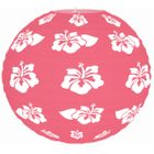 Tropical Hibiscus Pink 12inch Paper Lantern