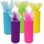 Tulle Fabric Roll 25-Yards Length x 6-Inch Width (Set of 5, Assorted #5) - Premier