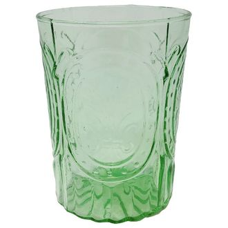 CLEARANCE Tumbler Drinking Glass Heather Light Green 12oz