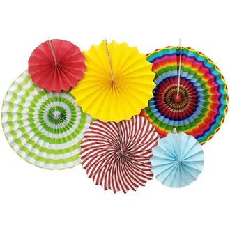 Tutti Frutti Paper Pinwheel Decorating Kit 6pcs