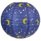 Twinkling Stars and Moon Night Sky 12inch Paper Lantern