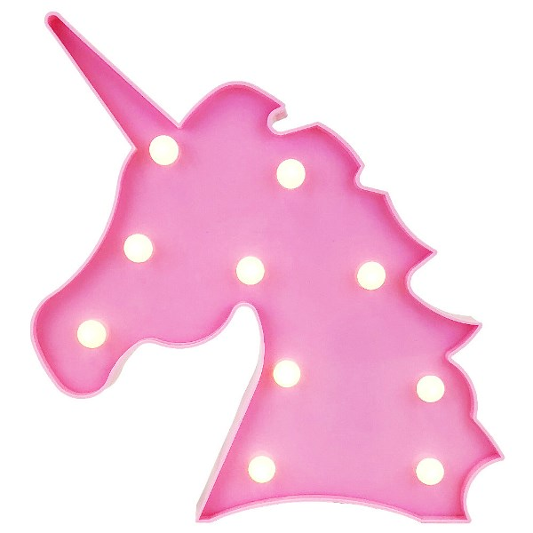 Unicorn Light Pink 10in Marquee LED Battery Operated Light ffc6bb4559ab