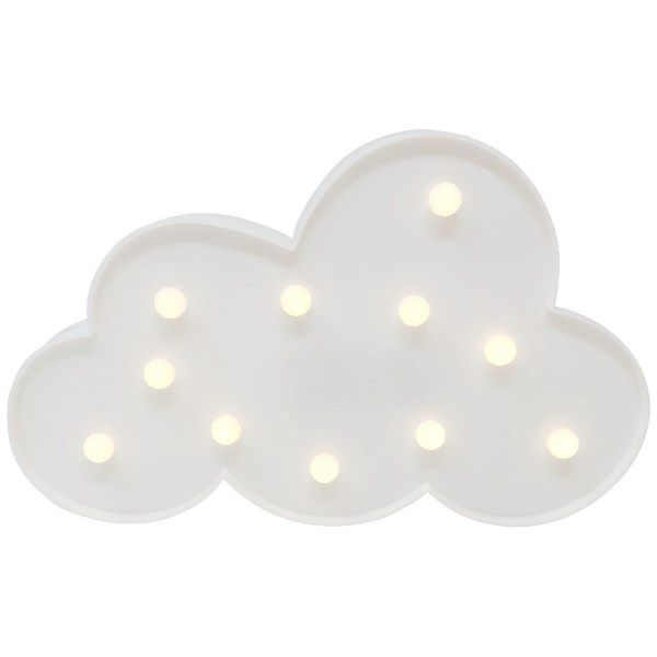 White Cloud 7in Marquee LED Battery Operated Light