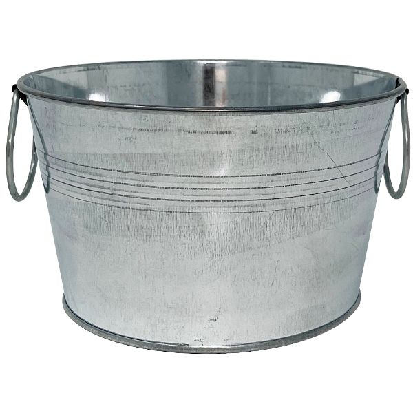 Wide Mouth Metal Favor Bucket 3.5in Shiny Galvanized