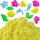 Yellow 1lb Sensory Play Sand with 12 Aquatic Molds