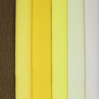 Yellow Assorted Crepe Paper Roll Package 6pcs