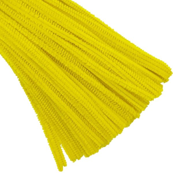 Yellow Chenille Stem Pipe Cleaners 100pcs