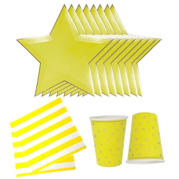 Yellow Stars Tableware Kit 36pcs - Premier