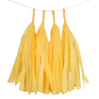 Yellow Tassel Garland 4pcs