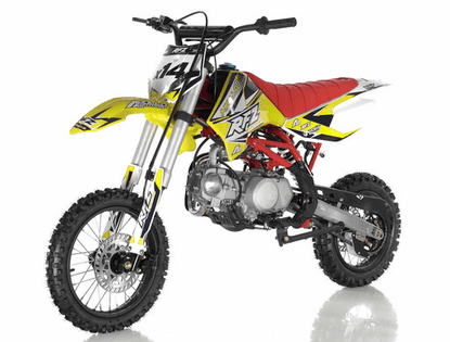 """Apollo DB-X14 Ultra-Elite 125cc Pit  Semi Auto 14 inch front Tire  30.5 inch seat Height-Upgraded Rear Swing-Arm - 14"""" Front Wheel -"""
