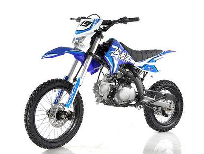 """Apollo DB-X19 With HEADLIGHTS 125cc Pit / Dirt Motorcycle. -17"""" Front Wheel - 32.5 inch seat - manual trans"""