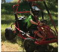 "Trailmaster XRS Mid Size  Go Kart - 196cc Engine - 6.5hp- <b><font color=""green""><font class=""size3"">Mostly Assembled</font></font></b>  -"