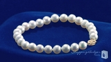 6-6.5mm Cultured Pearl Bracelet with 14K Yellow Gold Clasp, 7""
