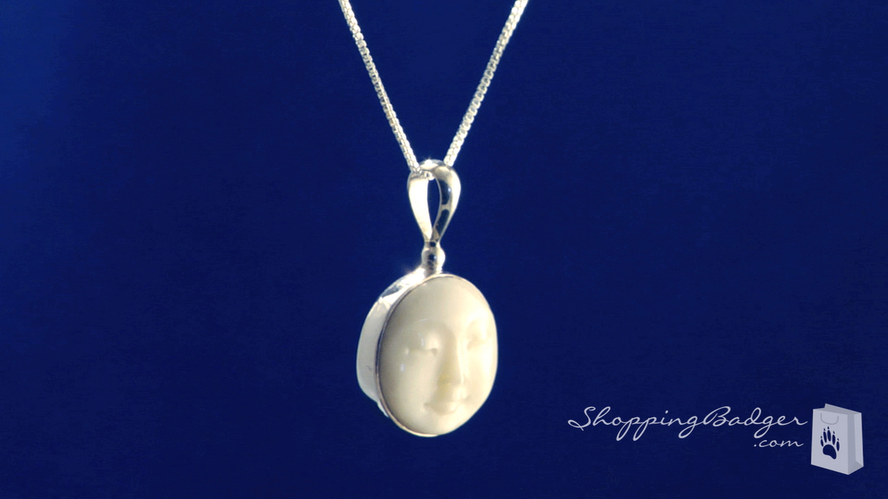 Carved Bone Face Goddess Necklace By Sajen In Sterling Silver 18 Free Shipping Shoppingbadger Com