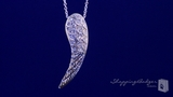 """CZ Angel Wing Necklace in Sterling Silver, Adjustable 16""""-18"""""""