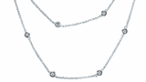 """CZ by the Yard Necklace in Sterling Silver, 16""""-54"""""""