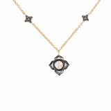 Gold Vermeil Cubic Zirconia Flower Necklace