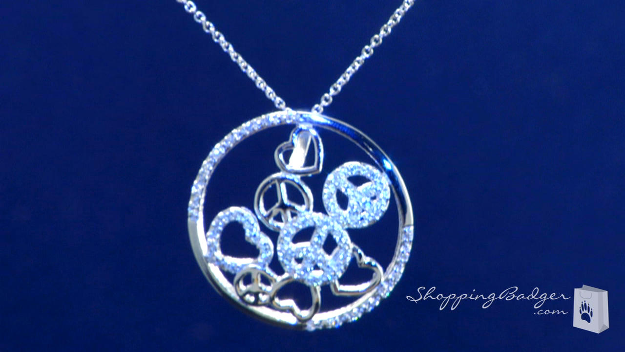 Sterling Silver Cz Circle Of Life Necklace