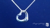 Sterling Silver Floating Heart Pendant Necklace with CZ
