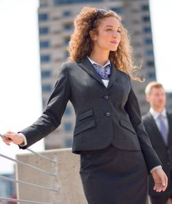 Ladies Hotel Premier Waist or Hip Length Washable Poly Wool Suit Jacket