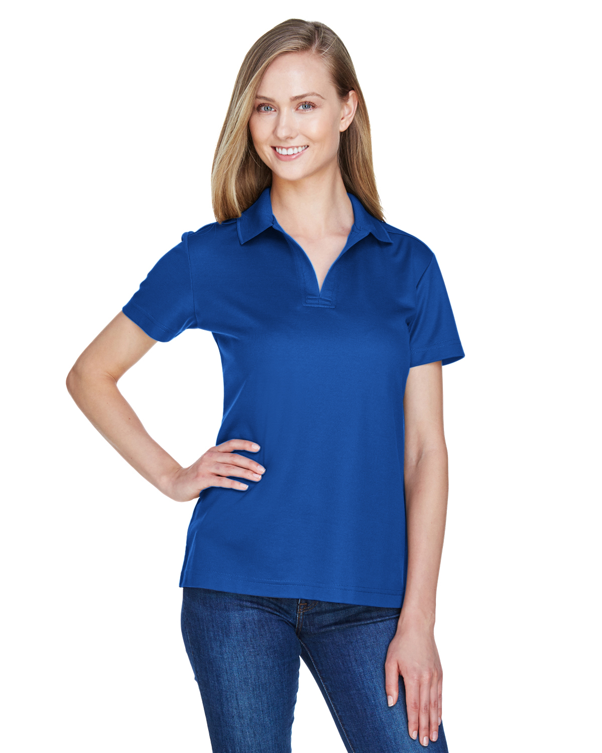 41aedcc11d7 Ladies  Moisture-Wicking Polo Shirt - Sharper Uniforms