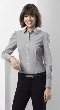 Ladies Restaurant Fine Stripe Euro Shirt