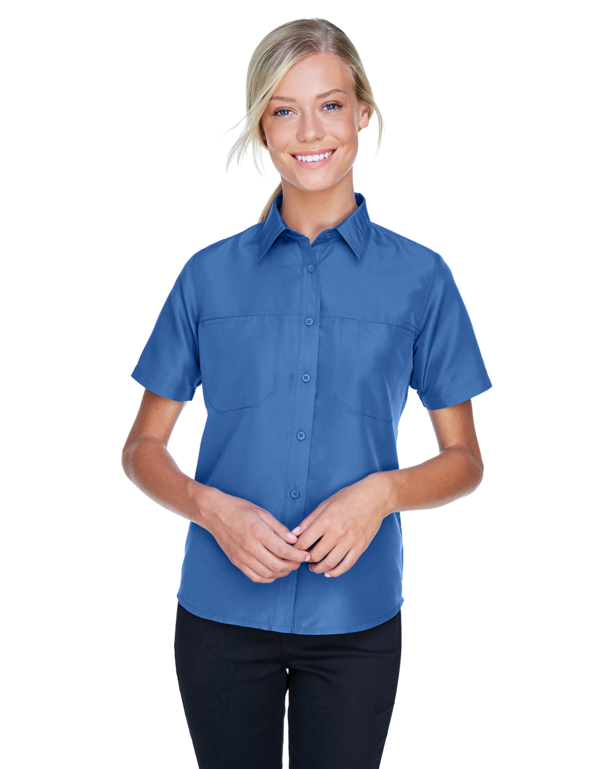 3116336687c Ladies Valet Mesh Back Performance Shirt