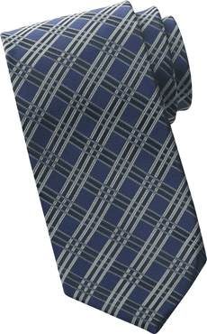 Men's Hotel Front Desk Tri-Plaid Tie
