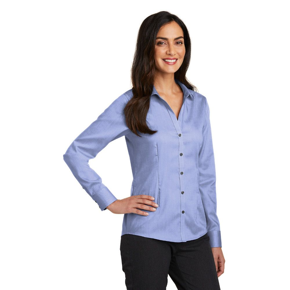 d2e18d4c2a Women s Restaurant Non-Iron Pinpoint Oxford Blouses  SharperUniforms.com