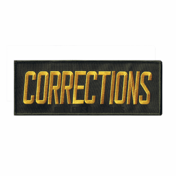 Back Patch with Velcro - CORRECTIONS
