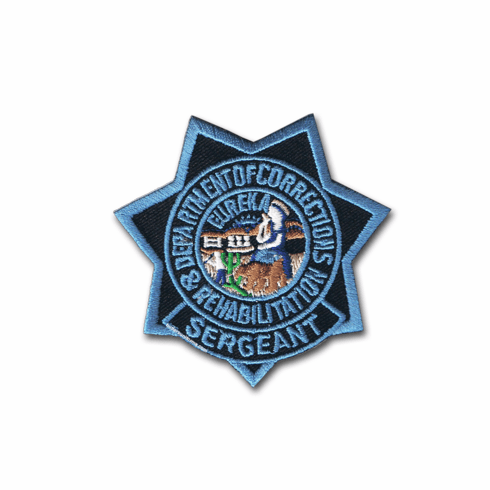 Blue Ribbon - CDCR Sgt. Star Patch