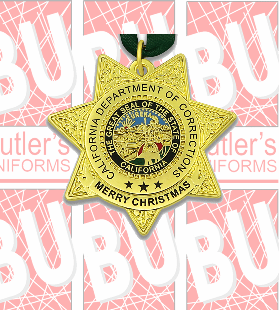 CDC/CDCR Double Sided Christmas Ornament