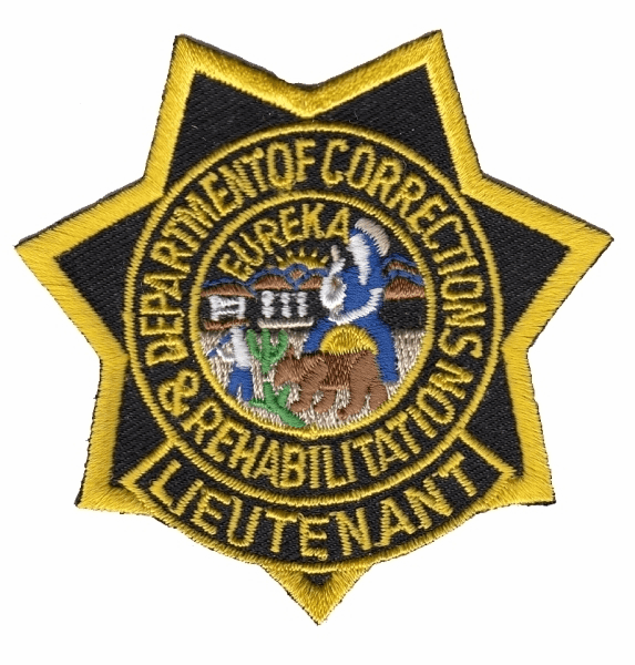 CDCR Lieutenant Star Patch