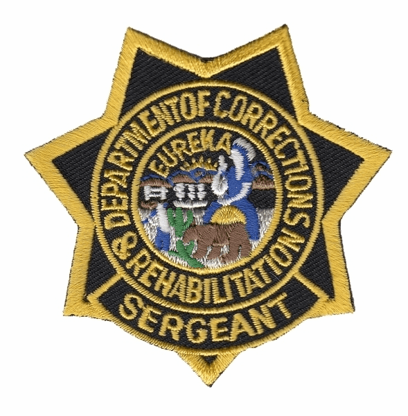 CDCR Sgt Star Patch