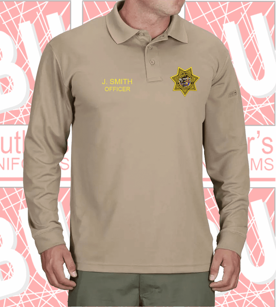 CDCR - Silver Tan Long Sleeves Polo