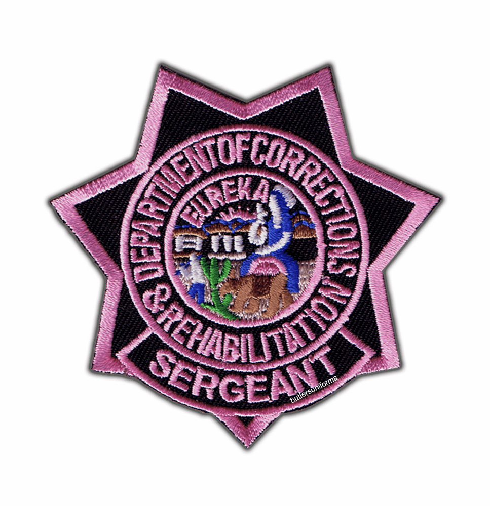 Pink - CDCR Sgt Star Patch
