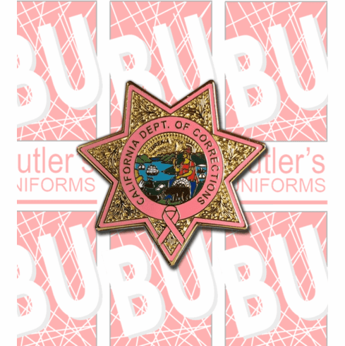 Pink CDCR Star Lapel Pin