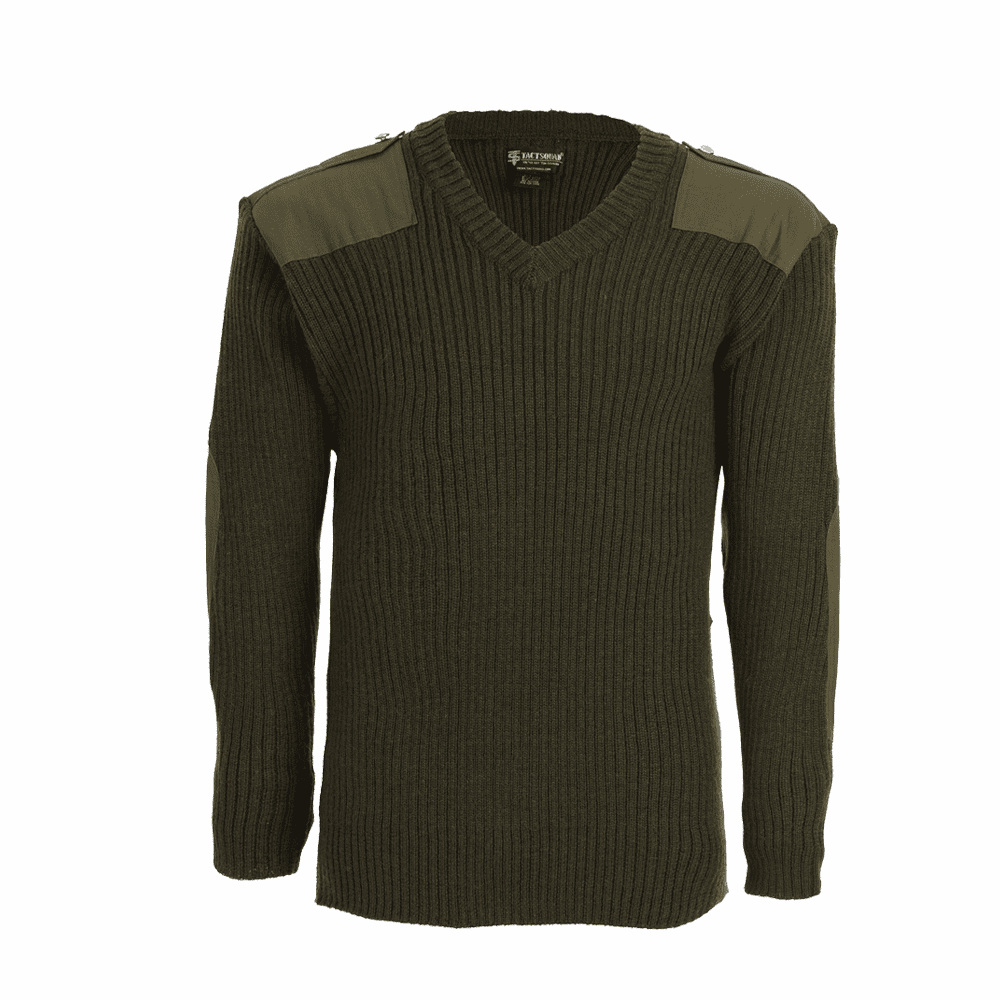 V-Neck Pull Over Commando Sweater