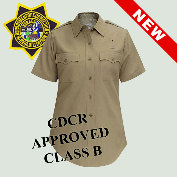 WOMEN CDCR Class B Short Sleeves Shirt