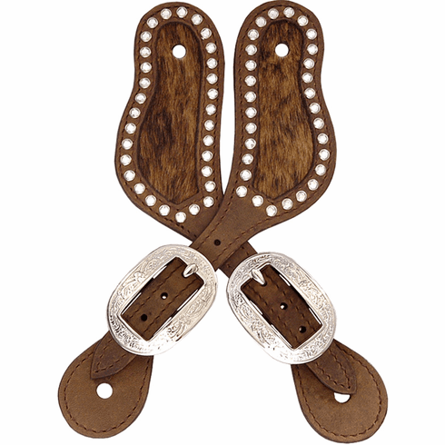 3D Brown Small Spur Straps