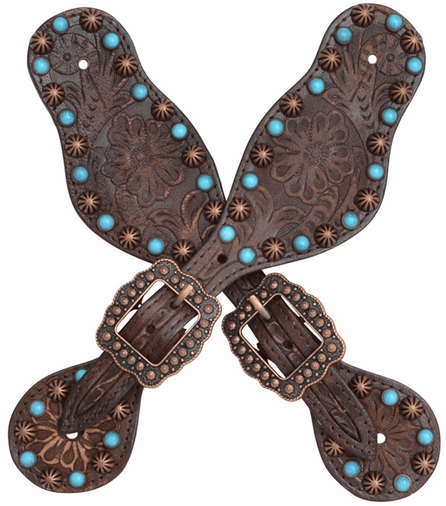 3D Turquoise Small Spur Straps