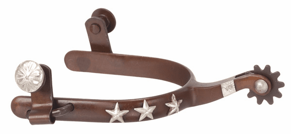 Antique Brown Silver Star Spur